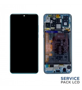 Pantalla Huawei P30 Lite New Edition AZUL CON MARCO LCD MAR-LX1A 02353FQE SERVICE PACK