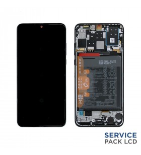 Pantalla Huawei P30 Lite New Edition MIDNIGHT BLACK CON MARCO LCD MAR-LX1A 02353FPX SERVICE PACK