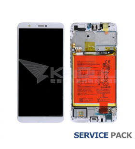 Pantalla Huawei P Smart BLANCA CON MARCO LCD FIG-LX1 02351SVE SERVICE PACK